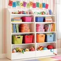 Basement Bookcases Playroom