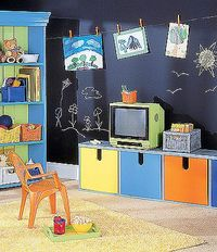 Basement Chalkboard Paint