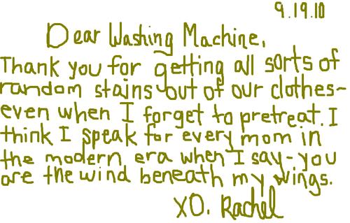 Thank you washing machine