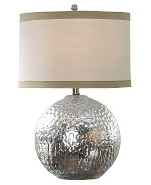 Hammered Silver Sphere Lamp