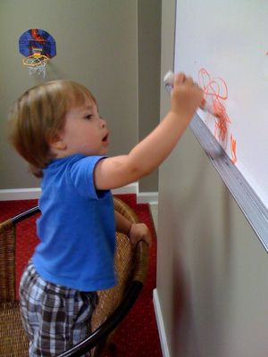 Work writing on the board