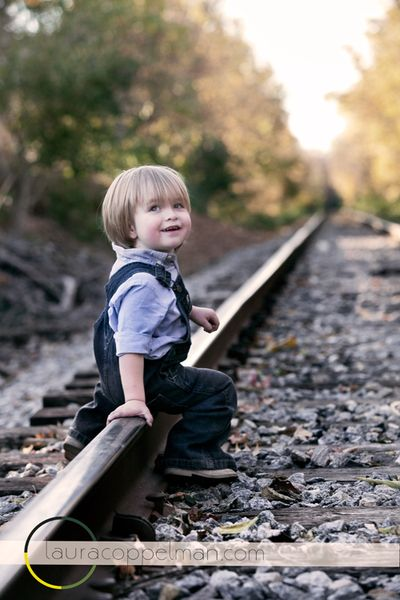 Railroad Tracks with Laura