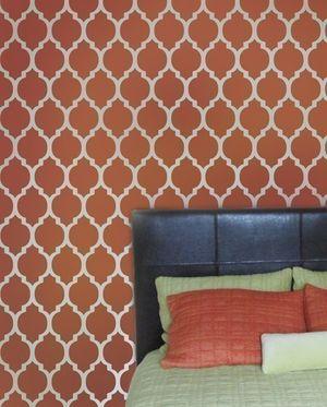 Wall stencil for nursery